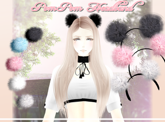 Pom Pom Headband - MMD Download by Shiremide1