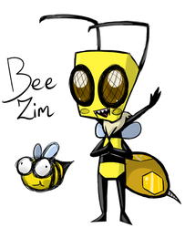 Bee Zim by Glitched-Irken