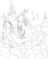 Gardian in the Clouds by mangachick420