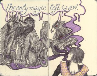 Moleskine XLVIII - The only magic left is art by Nakilicious
