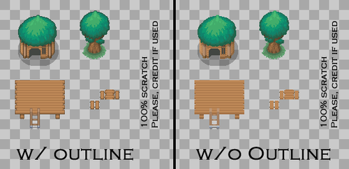 Fortree City Tileset by SailorVicious