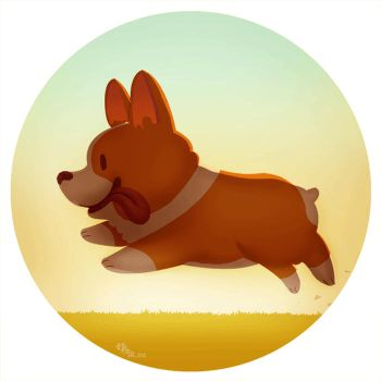 Run Corgi Run GIF by McIdea