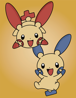 Plusle and Minun! Wallpaper!