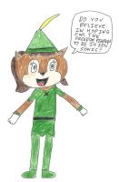 Sally Acorn cosplaying Peter Pan - Do you believe by dth1971