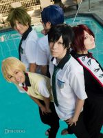 Iwatobi Swim Club and Rin by Antiquity-Dreams