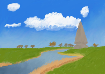 Obelisk by the River by FuhrerVonZephyr