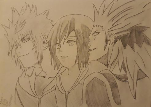 Roxas/Xion/Axel by Leaxel28