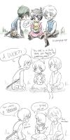 Little Fairytales AU by blueberryhope