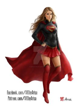 Commission: Supergirl by ARISA777o-w-o