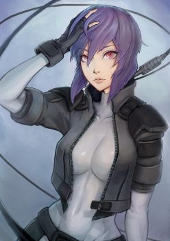 Motoko Kusanagi - Ghost in the Shell by Unsomnus