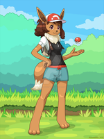 Eevee the Pokemon Trainer by Miltonholmes
