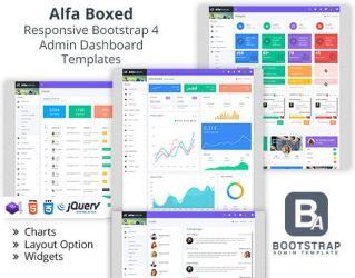 Alfa Boxed  Templates by bootstrapadmintempla