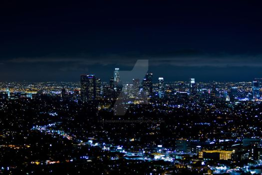 Nighttime in Los Angeles by P-LinsenerFotografie