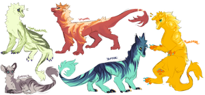 Colorful Babies!! - Open Adopts by kittublu