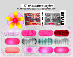 photoshop styles v1 by cameliaRessources