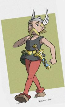 Asterix anime style by Carlos-MP