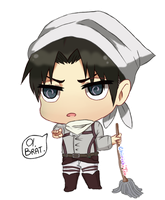 Commission : SNK!Chibi Levi Ackerman by InvokerSama