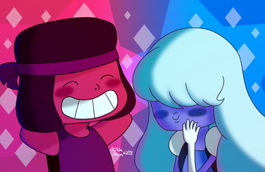 Ruby and Sapphie by booshippl