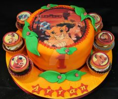 The Lion King Cake by cakesbylorna