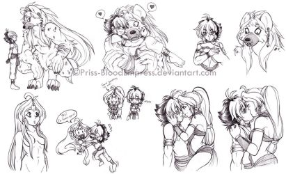 BeyMF::. Beauty and the Beast - Sketch Dump by Priss-BloodEmpress