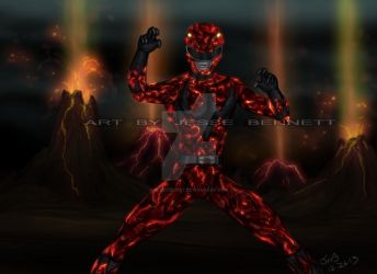 Mighty Morphin red ranger Lava Mode by blueliberty