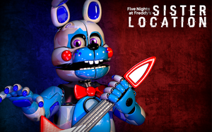 C4d | Funtime Bonnie - Wallpaper by Smiley-Facade
