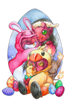 Happy Easter 2018 by Myaco