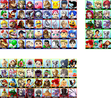 Super Smash Bros. 4 - Complete Roster by follyoftheforbidden
