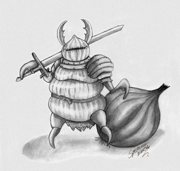 Onion Defender Sketch by SpectrumNinja