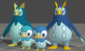 XPS Pokemon X and Y Piplup and Prinplup