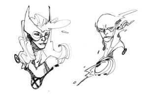 MARVEL GIRL and FLASH by EricCanete