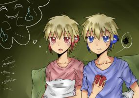 Leina and Raine:Scared of Ghost by youcchi