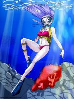 Bulma   Scuba by shoxxe(colored by me) by MyArt1992