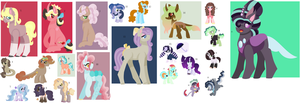 rejected OC's Adoptables 2 14/23 by MPLbasemaker33