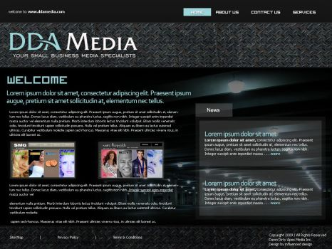 DDA Media Techno Layout by influenceddesign