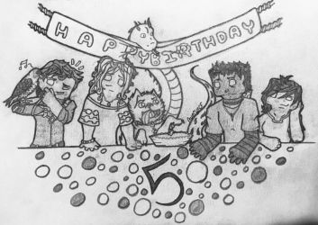 Ghost's 5th (Real life) Birthday by AveryCF