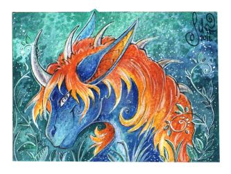 ACEO for LeoDragonsWorks - Forest of mysteries by MiriElzar