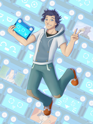 Sousuke and Pad-kun [Classicaloid Zine] by BlackThunder-chan