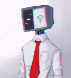 A redraw of an old scp 079 drawing by MinnaMew