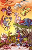 Pokemon Dragons x14