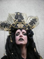 Stock - Vampire queen golden headdress 2 by S-T-A-R-gazer