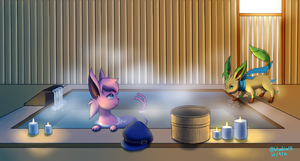 Commission: Hot Spring by BluuKiss
