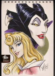 COPIC sketch 87 AURORA_MALEFICA by FranciscoETCHART