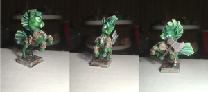 Green Barbarian Pony Table-Top Miniature by NPCtendo