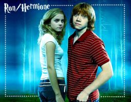 Ron and Hermione- Cool Colors by Kilimac