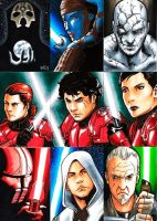 Star Wars Sketch Cards by DavidFernandezArt
