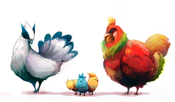 Legendary Chickens -Cleaned- by MrRedButcher