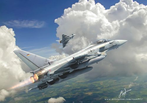 Eurofighter Typhoon by rOEN911