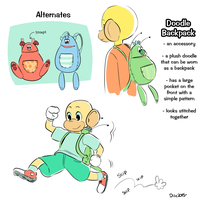Doodle Backpack by Papercut-Cranes