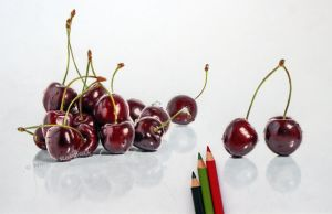 Cherry drawing by Quelchii